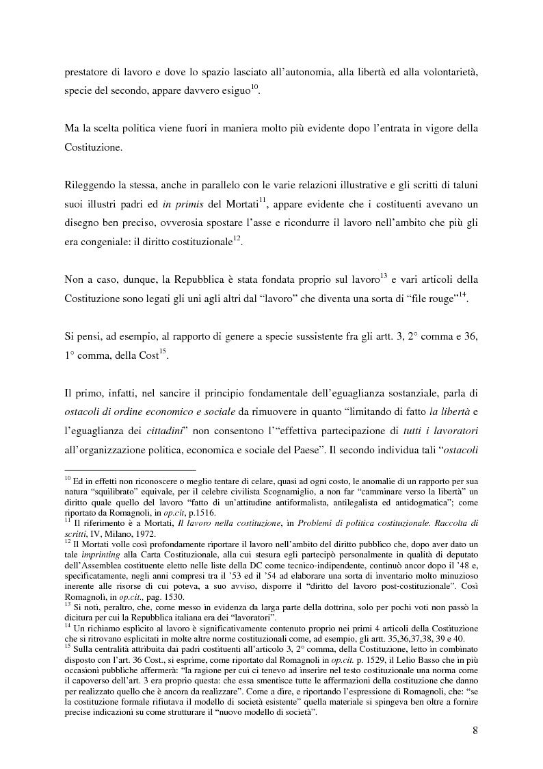 Anteprima della tesi: La corrispettività nelle vicende sospensive della prestazione di lavoro, Pagina 4