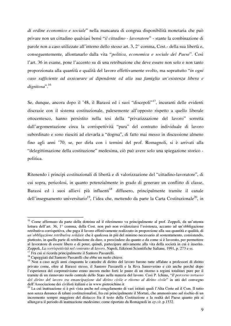 Anteprima della tesi: La corrispettività nelle vicende sospensive della prestazione di lavoro, Pagina 5