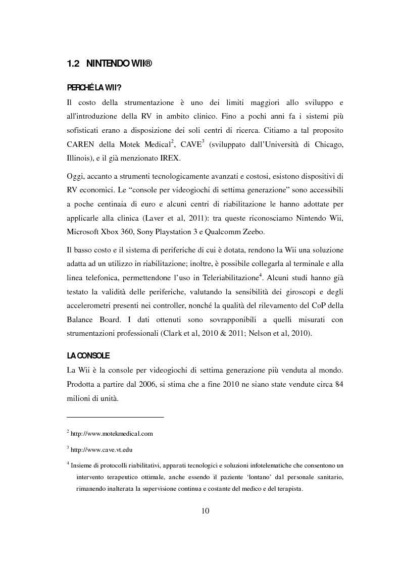 Anteprima della tesi: La Console Nintendo Wii® Nella Riabilitazione Di Pazienti Neurologici Adulti. Revisione Sistematica Della Letteratura, Pagina 5