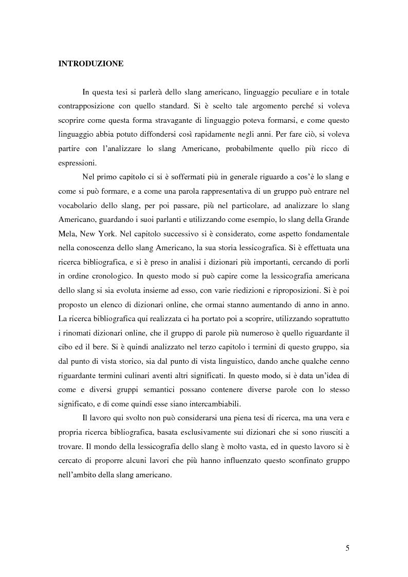 Anteprima della tesi: Lo Slang Americano: un'analisi lessicografica, Pagina 2