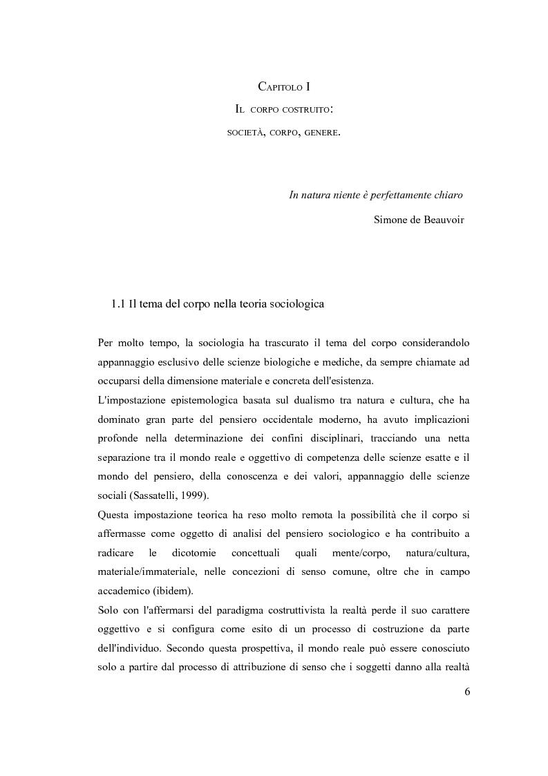 Anteprima della tesi: ''The embodiment of gender'': il corpo della donna da oggetto a strumento di azione, Pagina 5