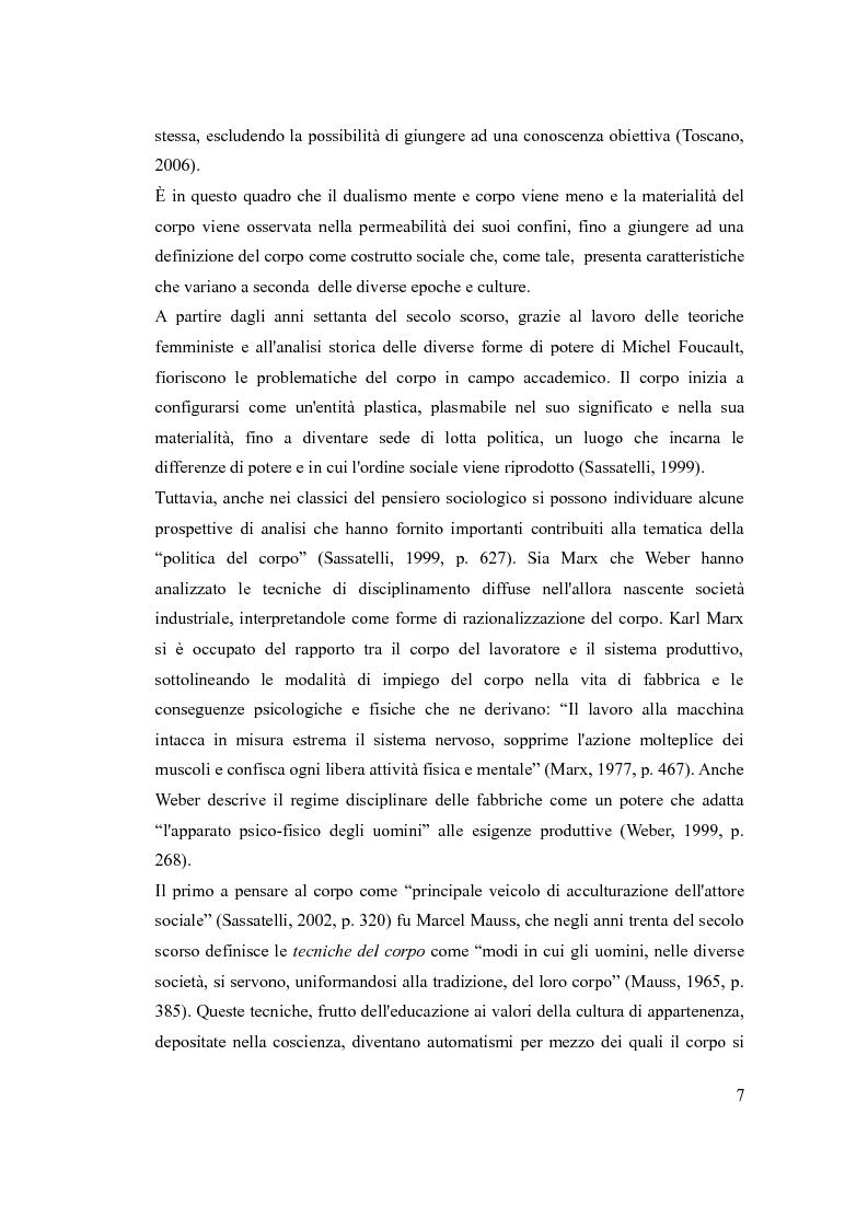 Anteprima della tesi: ''The embodiment of gender'': il corpo della donna da oggetto a strumento di azione, Pagina 6