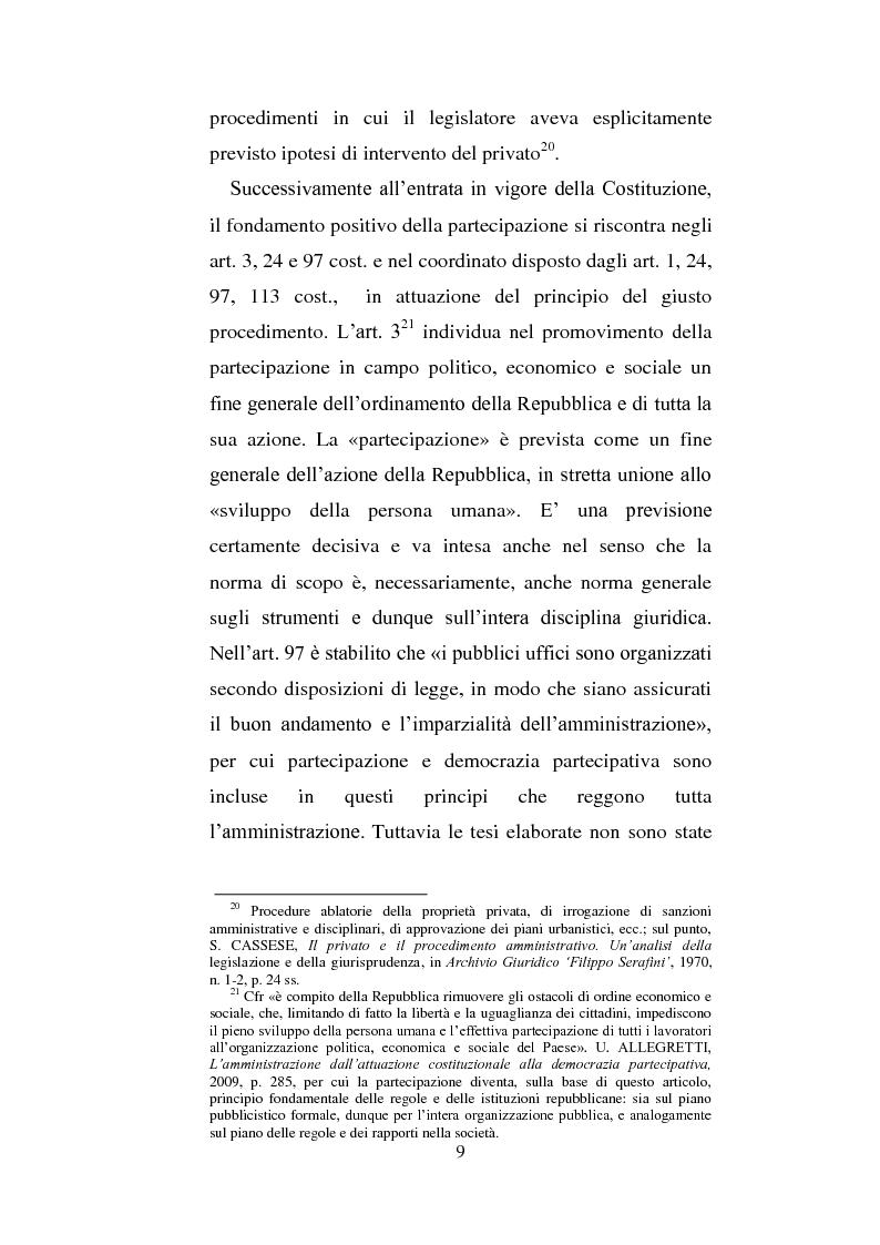 Anteprima della tesi: La partecipazione dei cittadini nel governo del territorio, Pagina 10