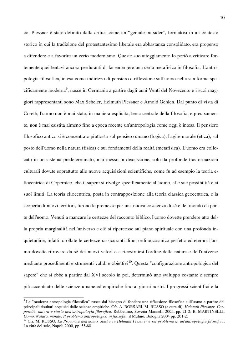 Anteprima della tesi: Ambiente, eccentricità e nuovi spazi antropologici, Pagina 7