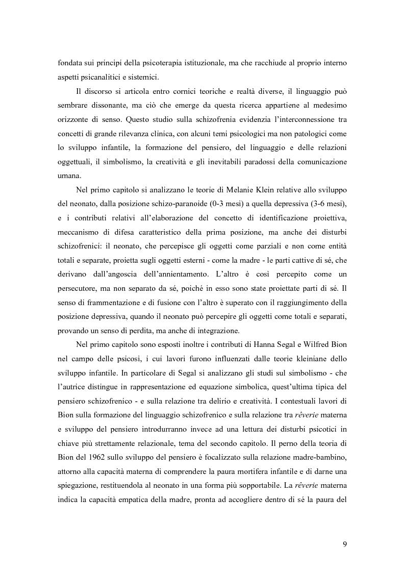 Anteprima della tesi: Identificazione proiettiva, double bind, schizofrenia, Pagina 4