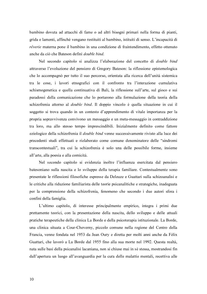 Anteprima della tesi: Identificazione proiettiva, double bind, schizofrenia, Pagina 5
