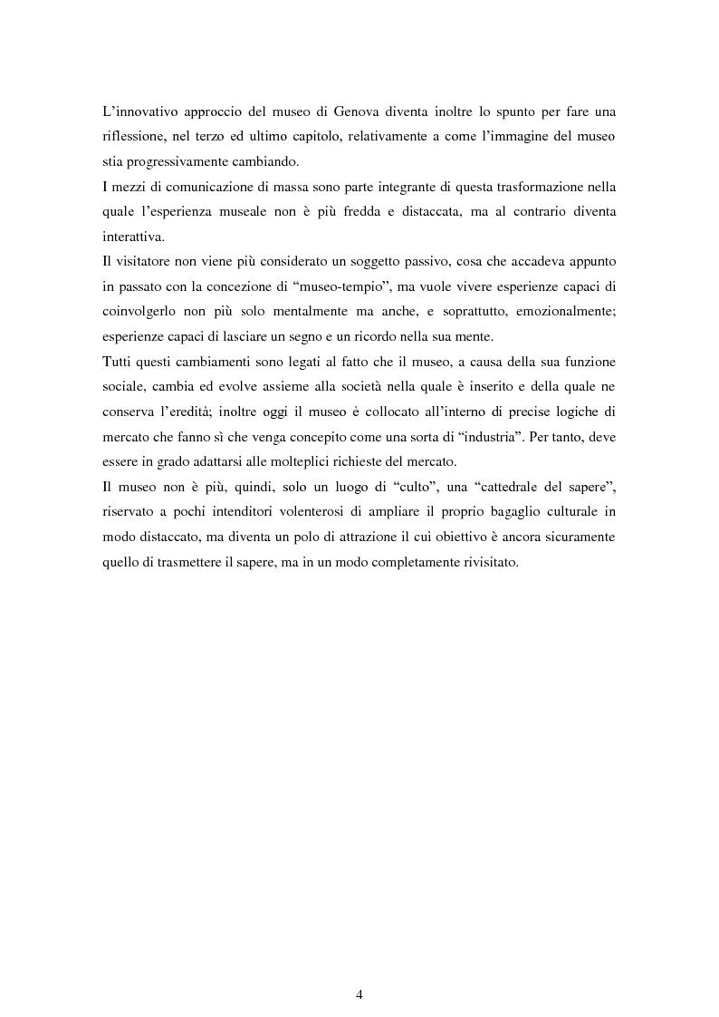 Anteprima della tesi: La comunicazione museale nel recupero dell'identità migratoria. Il museo Galata di Genova., Pagina 3