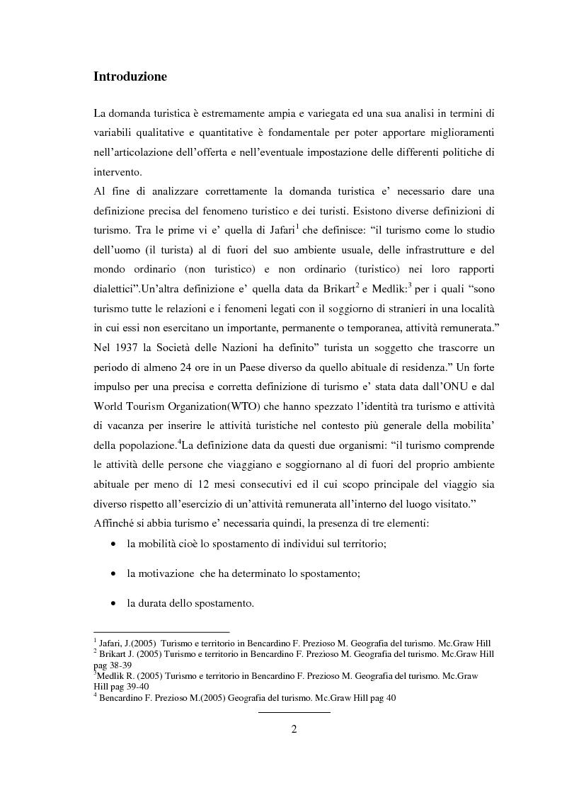 Anteprima della tesi: Prodotti tipici e turismo enogastronomico per la valorizzazione del territorio, Pagina 2