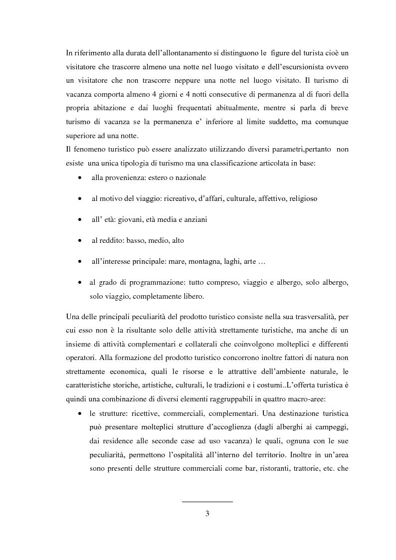 Anteprima della tesi: Prodotti tipici e turismo enogastronomico per la valorizzazione del territorio, Pagina 3