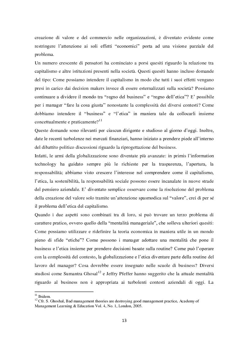Anteprima della tesi: Il sistema di reporting della sostenibilità: il bilancio e gli indici di sostenibilità, Pagina 11