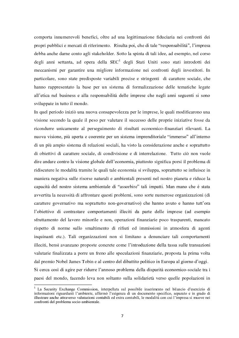 Anteprima della tesi: Il sistema di reporting della sostenibilità: il bilancio e gli indici di sostenibilità, Pagina 5