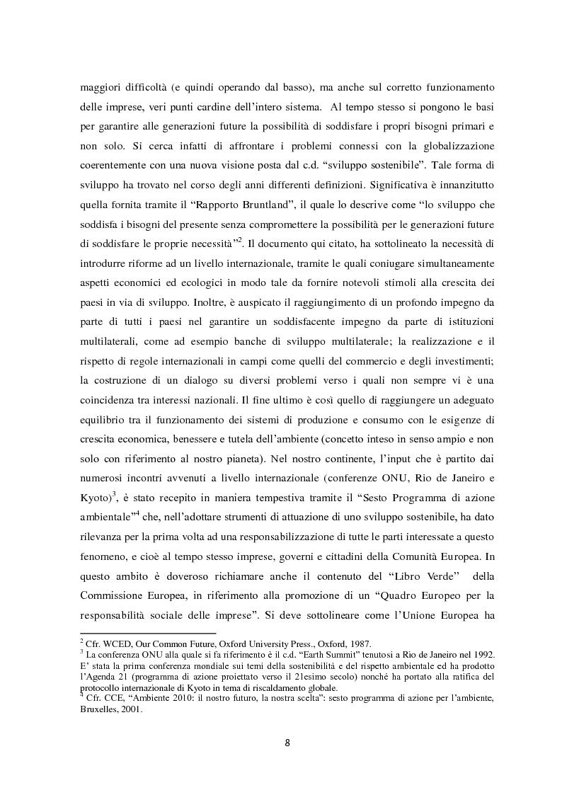 Anteprima della tesi: Il sistema di reporting della sostenibilità: il bilancio e gli indici di sostenibilità, Pagina 6