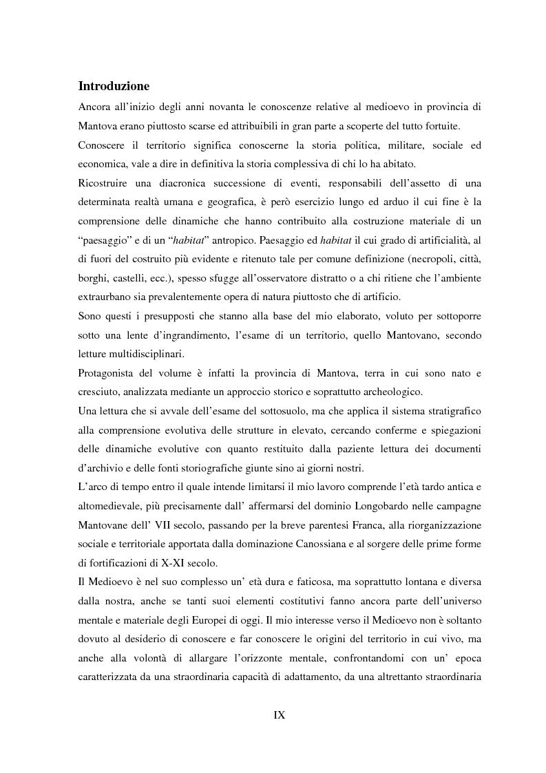 Anteprima della tesi: Storia e Archeologia del territorio Mantovano tra VII e XI secolo, Pagina 2