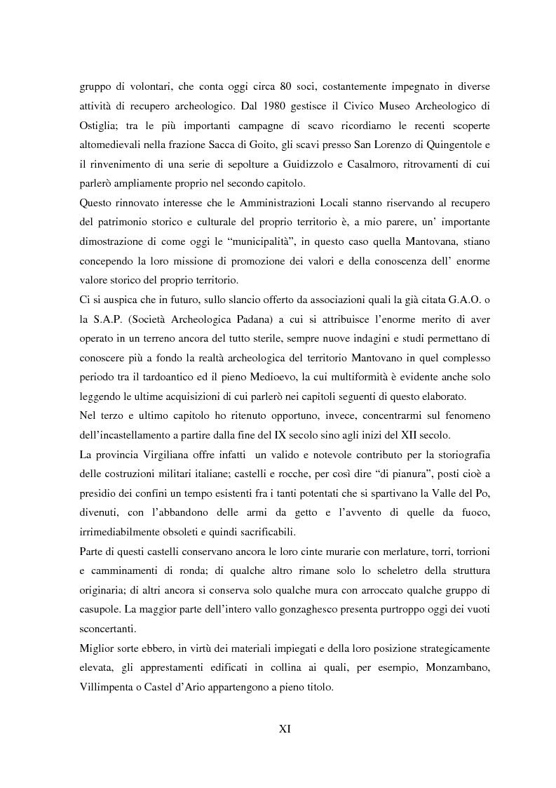 Anteprima della tesi: Storia e Archeologia del territorio Mantovano tra VII e XI secolo, Pagina 4