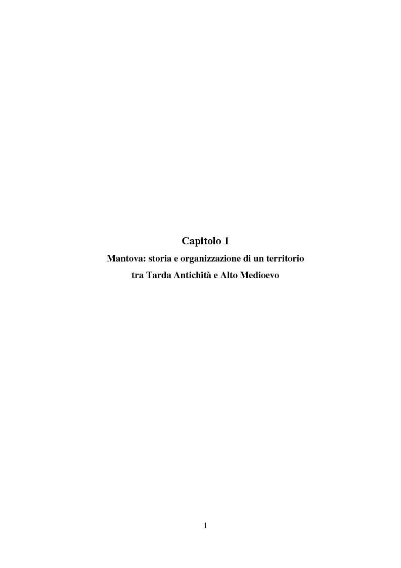 Anteprima della tesi: Storia e Archeologia del territorio Mantovano tra VII e XI secolo, Pagina 7