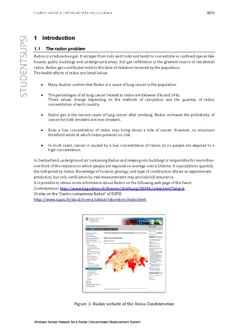 Anteprima della tesi: Wireless Sensor Network fo a Radon Concentration Measurement System, Pagina 2