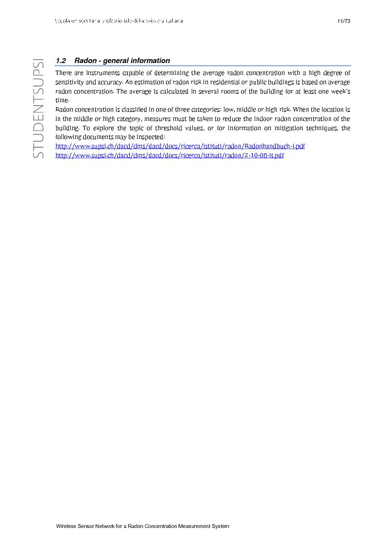 Anteprima della tesi: Wireless Sensor Network fo a Radon Concentration Measurement System, Pagina 3