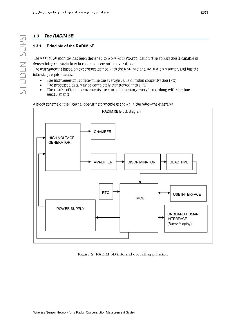 Anteprima della tesi: Wireless Sensor Network fo a Radon Concentration Measurement System, Pagina 4