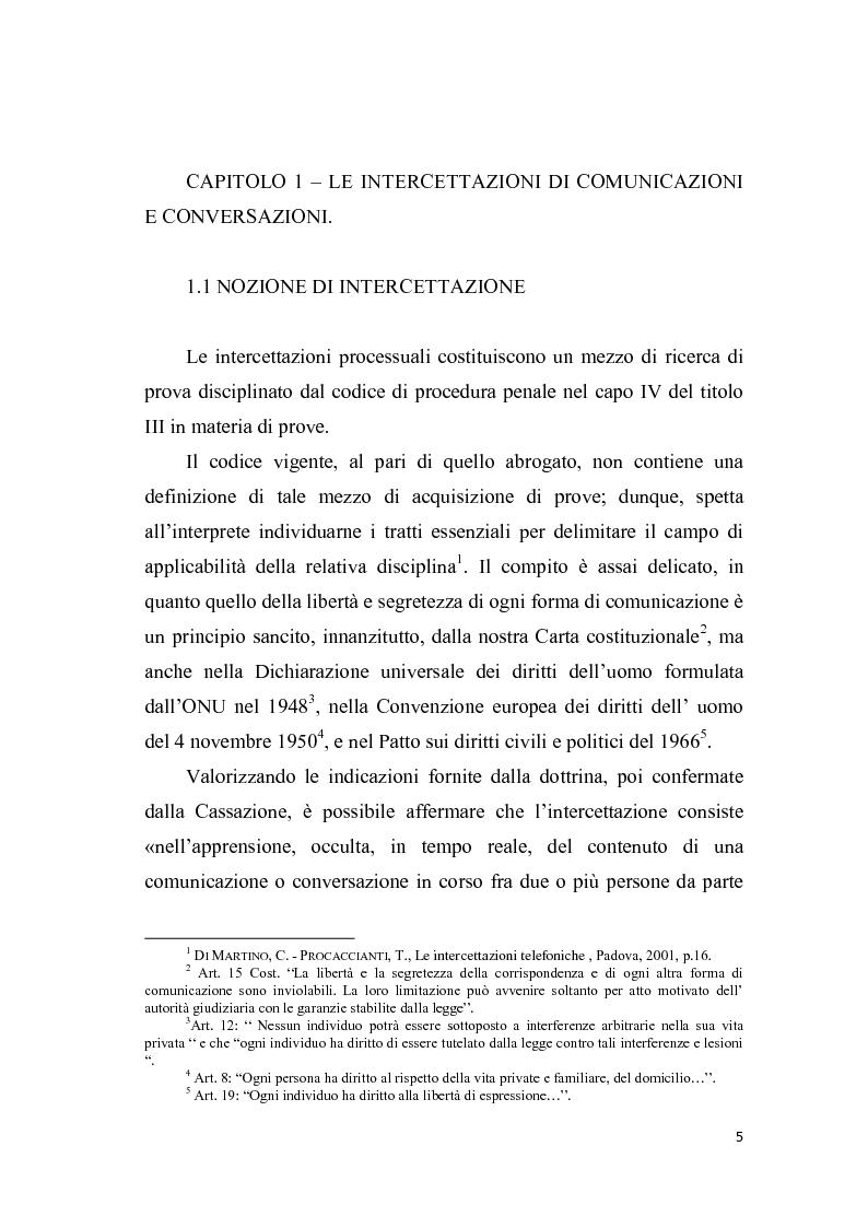 Anteprima della tesi: Le intercettazioni, Pagina 4