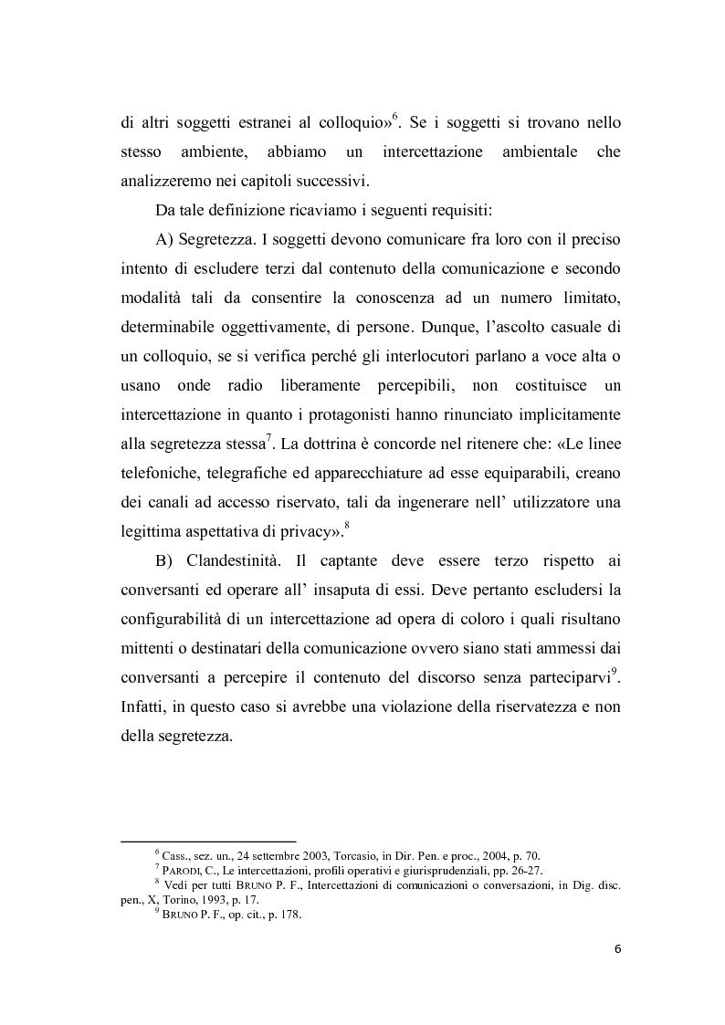 Anteprima della tesi: Le intercettazioni, Pagina 5