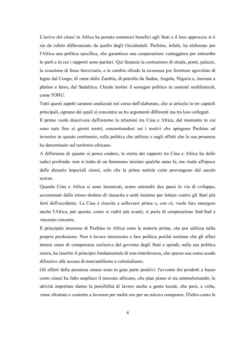 Anteprima della tesi: Politica estera e strategie commerciali della RPC in Africa, Pagina 3
