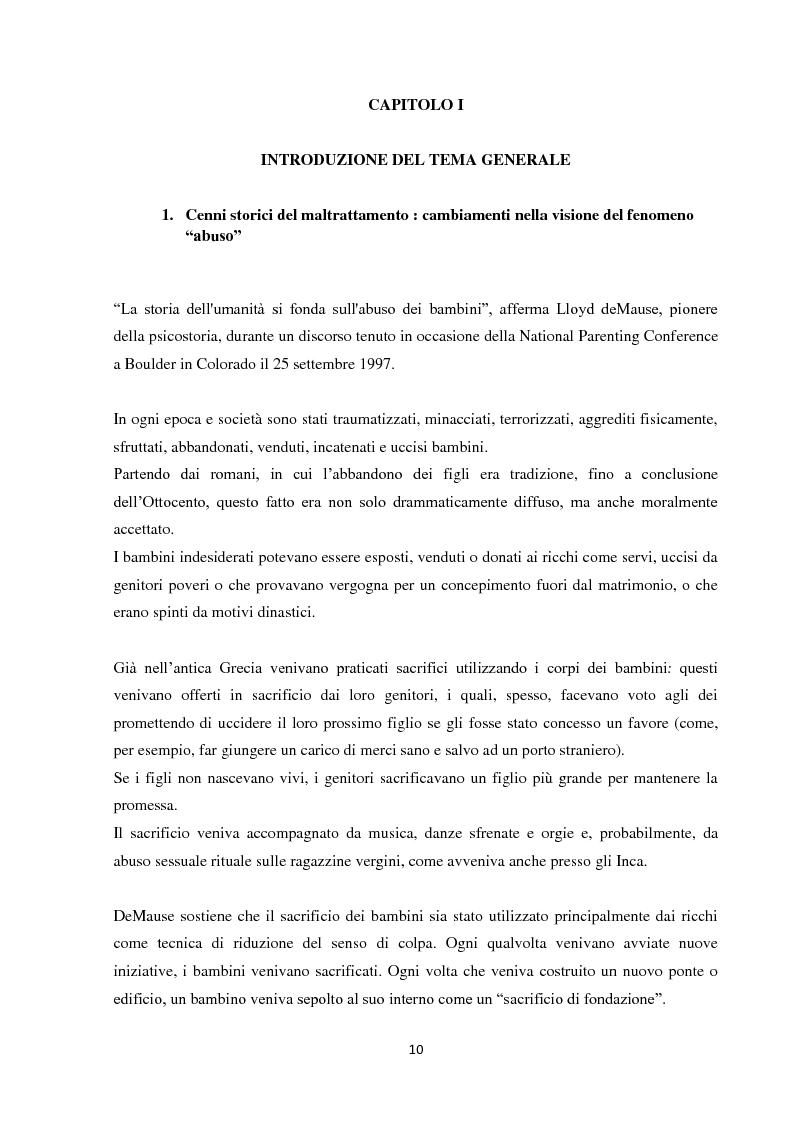 Anteprima della tesi: Fenomeni di maltrattamento infantile e impatto reale della malattia mentale nei genitori, Pagina 2