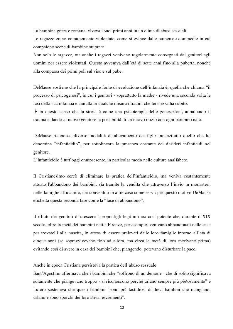 Anteprima della tesi: Fenomeni di maltrattamento infantile e impatto reale della malattia mentale nei genitori, Pagina 4