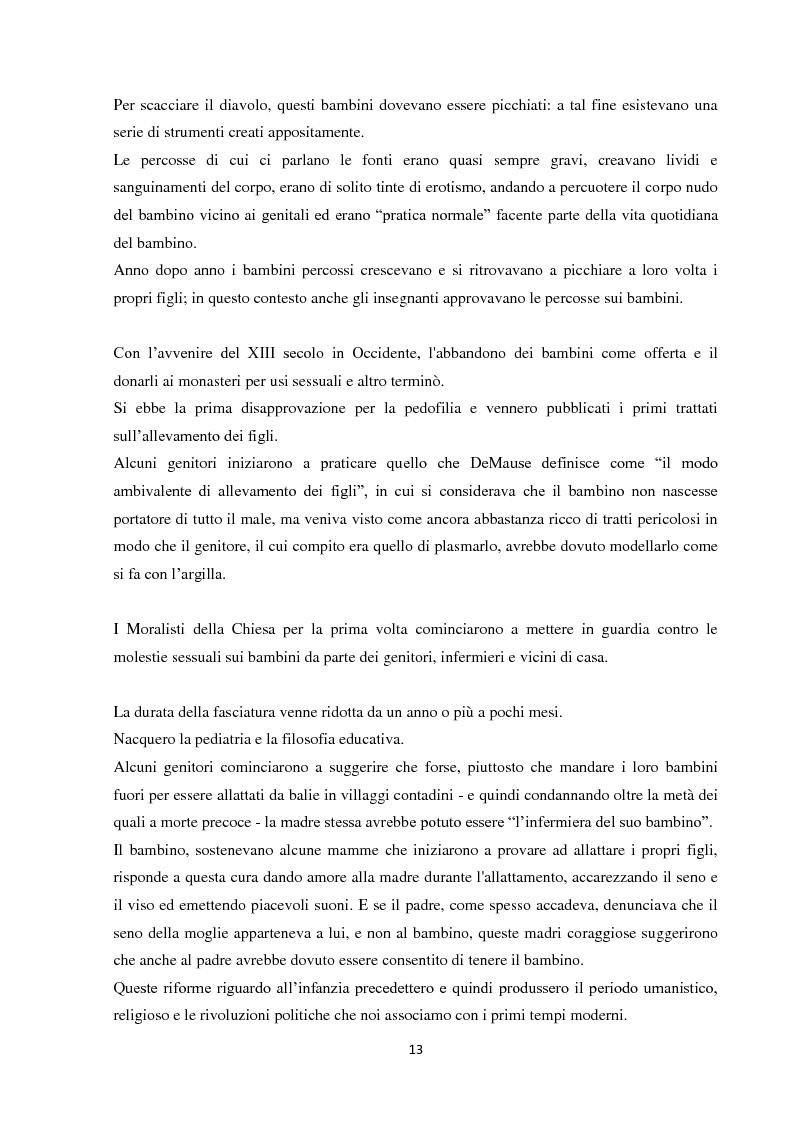 Anteprima della tesi: Fenomeni di maltrattamento infantile e impatto reale della malattia mentale nei genitori, Pagina 5