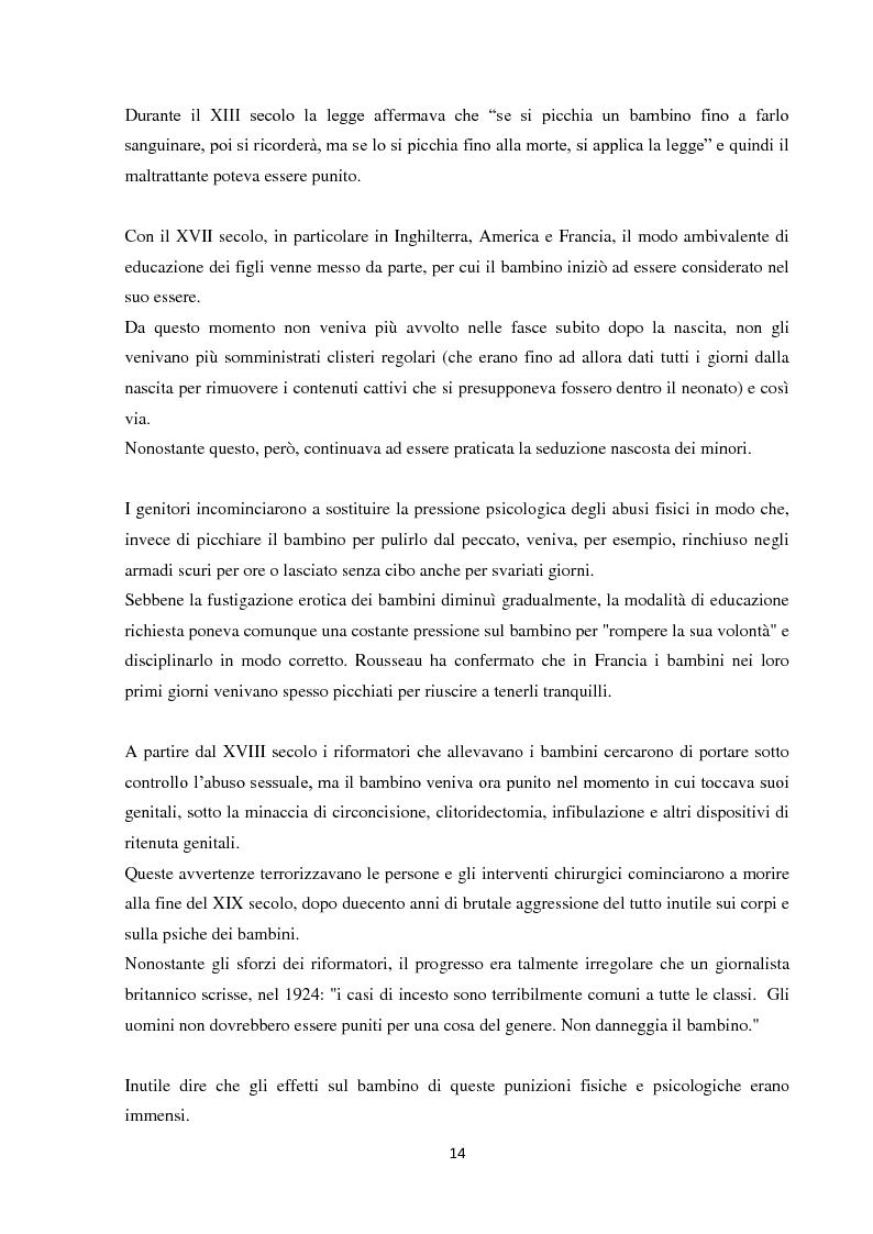 Anteprima della tesi: Fenomeni di maltrattamento infantile e impatto reale della malattia mentale nei genitori, Pagina 6