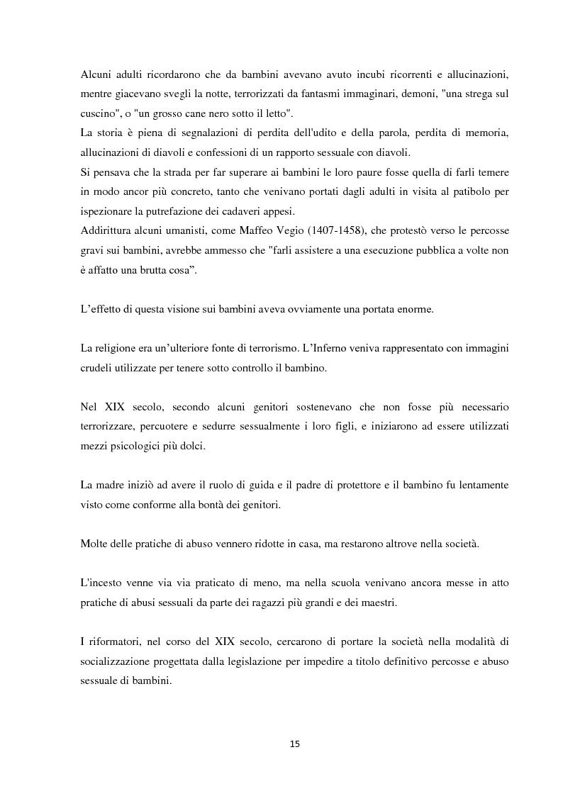 Anteprima della tesi: Fenomeni di maltrattamento infantile e impatto reale della malattia mentale nei genitori, Pagina 7