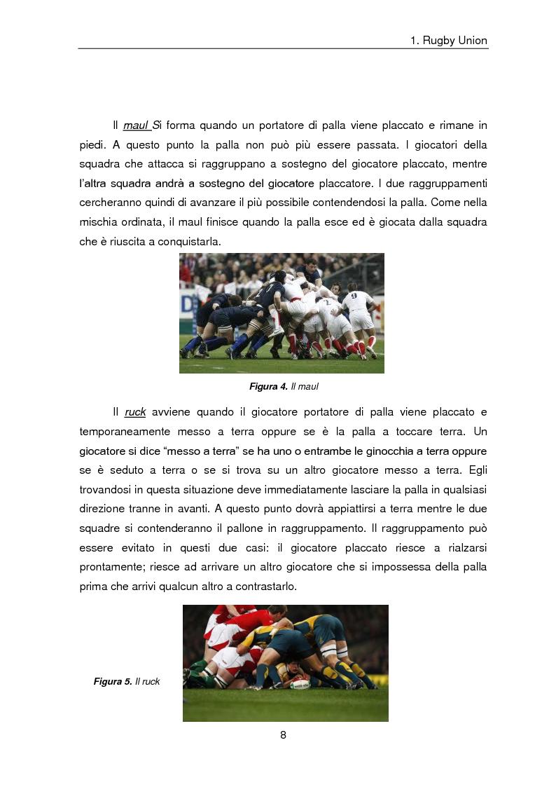 Anteprima della tesi: Indicatori comulativi del carico di lavoro in sedute specifiche di Rugby Union, Pagina 5
