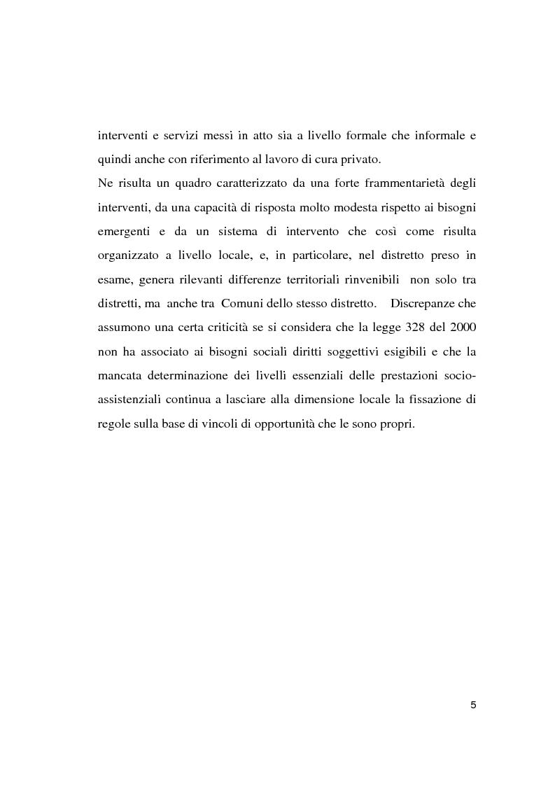 Anteprima della tesi: Le politiche socio-assistenziali rivolte agli anziani non autosufficienti nel distretto 6 dell'ASL di Milano 1: scenario attuale e prospettive future, Pagina 4
