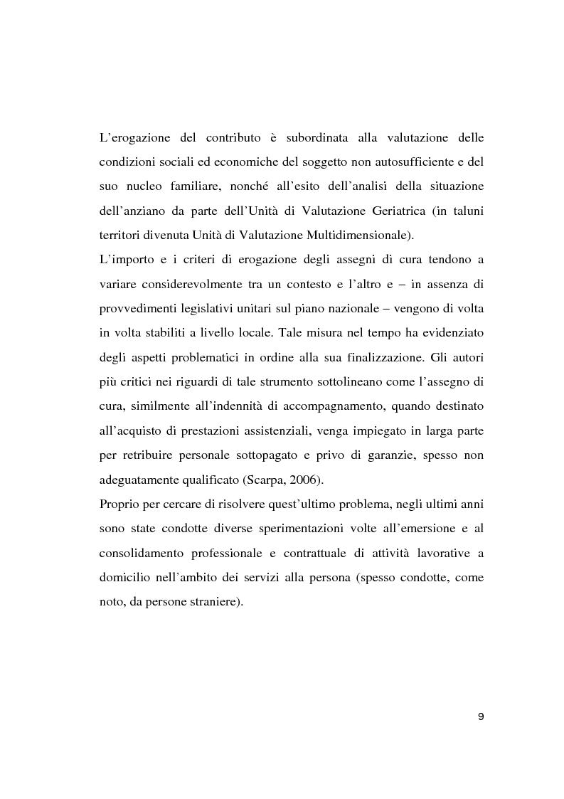 Anteprima della tesi: Le politiche socio-assistenziali rivolte agli anziani non autosufficienti nel distretto 6 dell'ASL di Milano 1: scenario attuale e prospettive future, Pagina 8