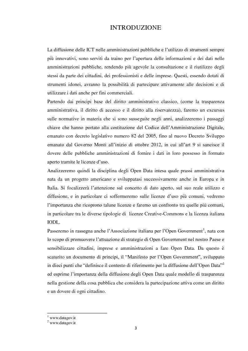 Anteprima della tesi: Open Data: l'amministrazione pubblica tra innovazione e trasparenza, Pagina 2