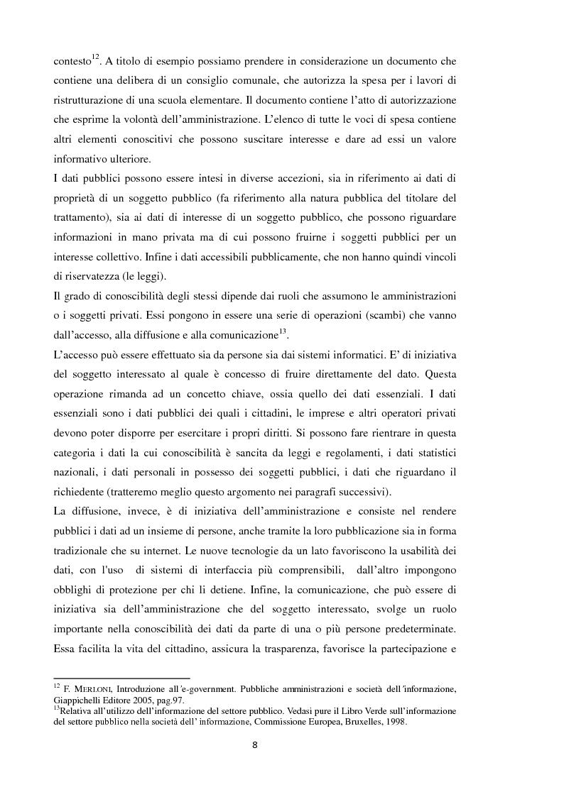 Anteprima della tesi: Open Data: l'amministrazione pubblica tra innovazione e trasparenza, Pagina 7