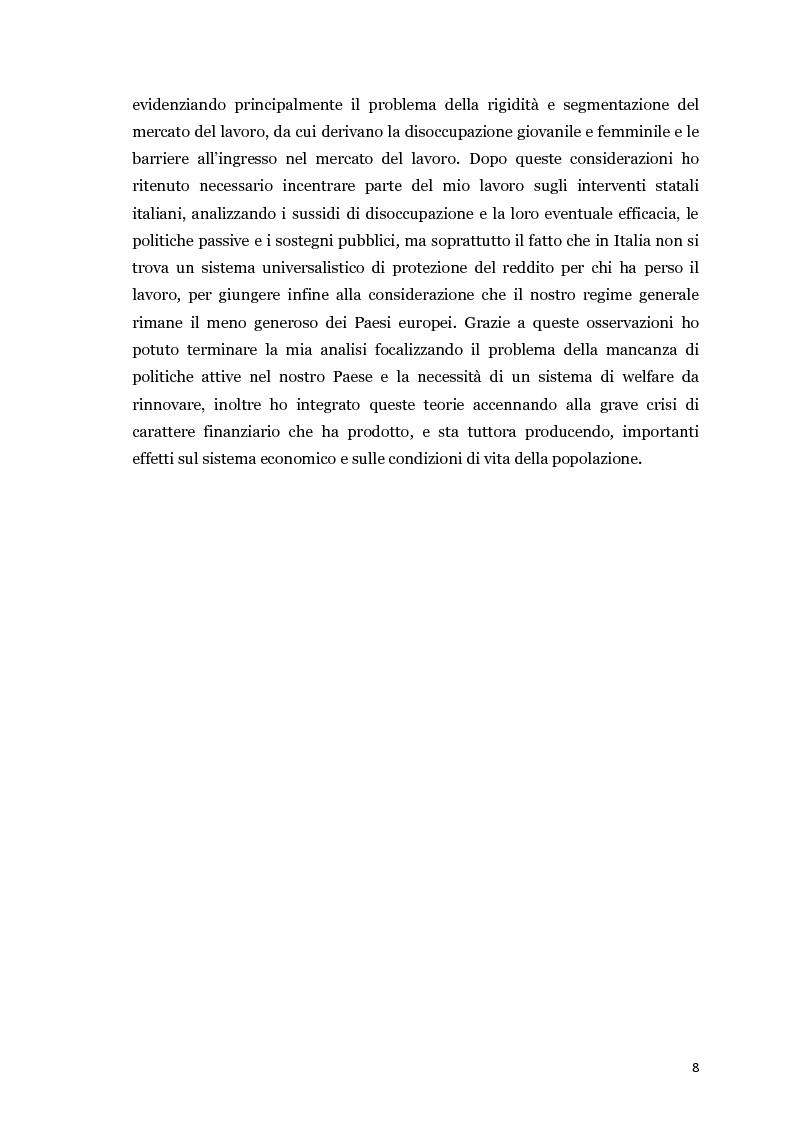Anteprima della tesi: Disoccupazione e crisi del mercato del lavoro: il problema italiano, Pagina 3