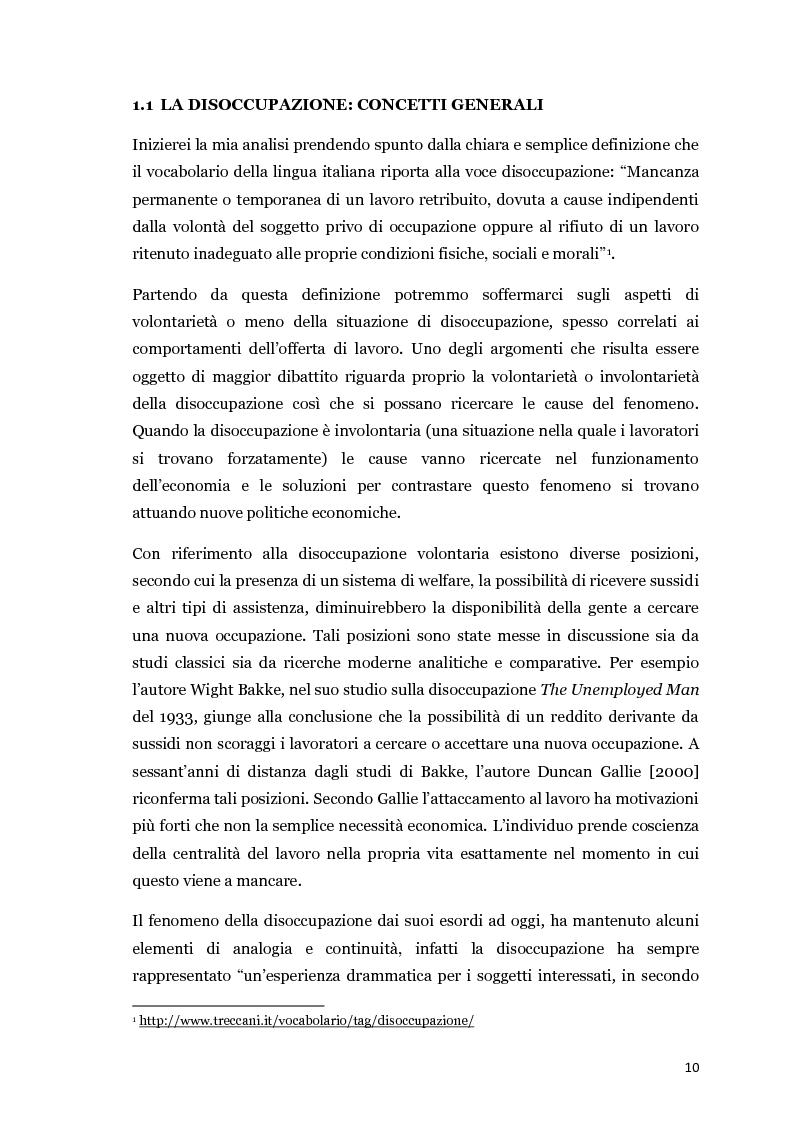 Anteprima della tesi: Disoccupazione e crisi del mercato del lavoro: il problema italiano, Pagina 5