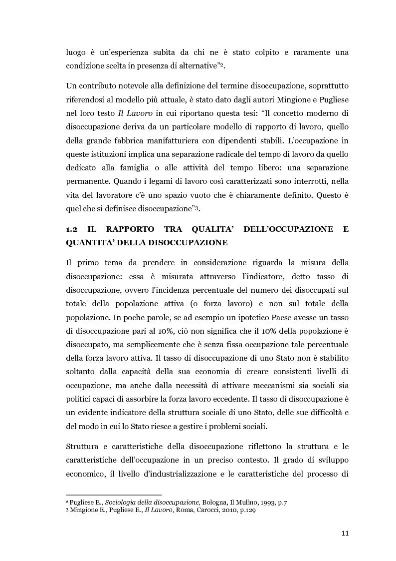 Anteprima della tesi: Disoccupazione e crisi del mercato del lavoro: il problema italiano, Pagina 6