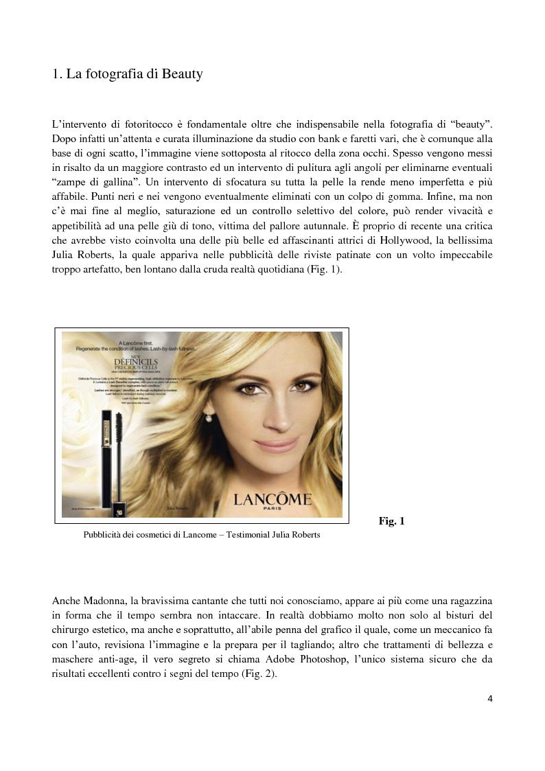 Anteprima della tesi: L'elaborazione digitale nella fotografia di moda, Pagina 3