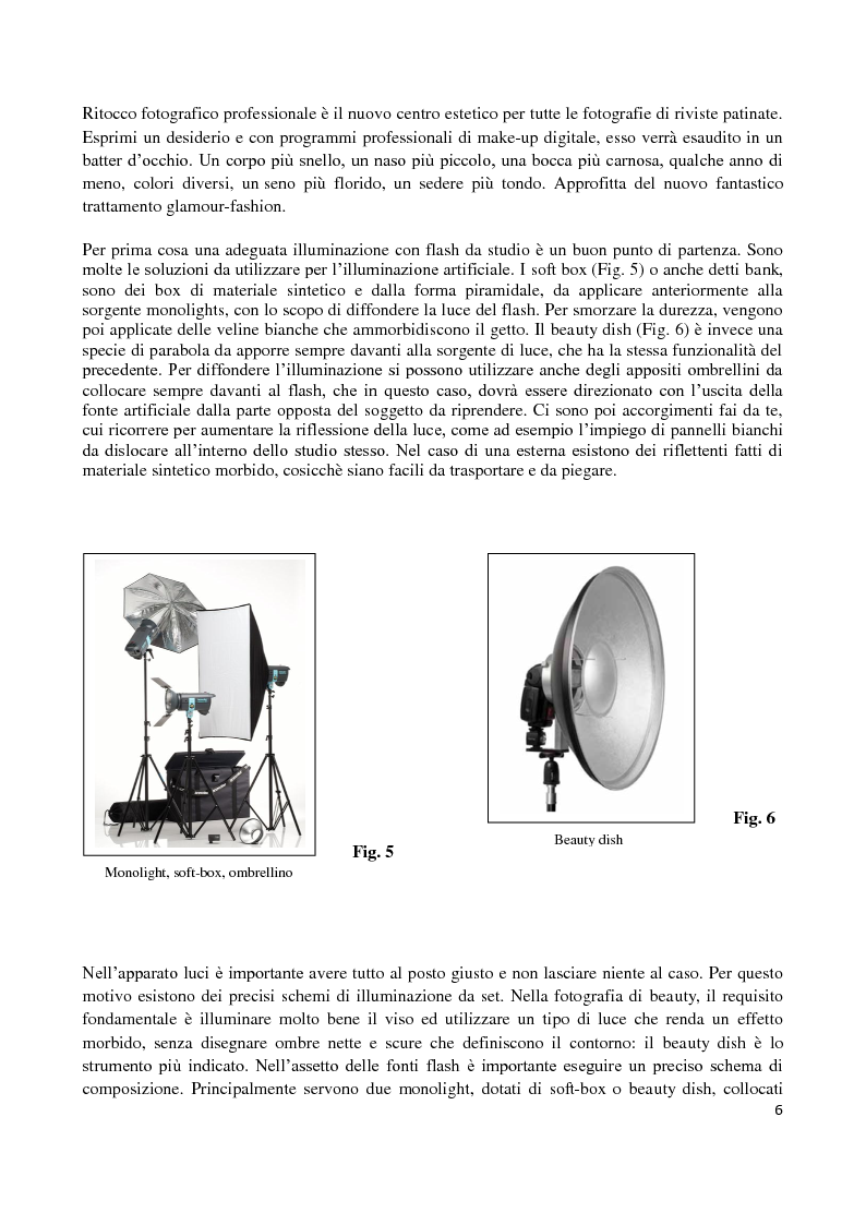 Anteprima della tesi: L'elaborazione digitale nella fotografia di moda, Pagina 5