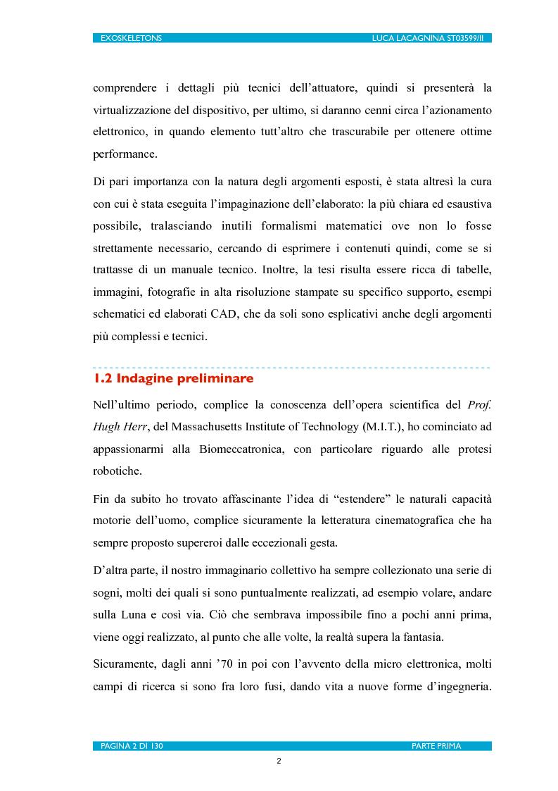 Anteprima della tesi: Exoskeletons. La nuova frontiera della Biomeccatronica per la terapia riabilitativa ed il potenziamento, Pagina 3