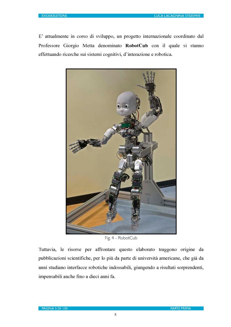 Anteprima della tesi: Exoskeletons. La nuova frontiera della Biomeccatronica per la terapia riabilitativa ed il potenziamento, Pagina 6