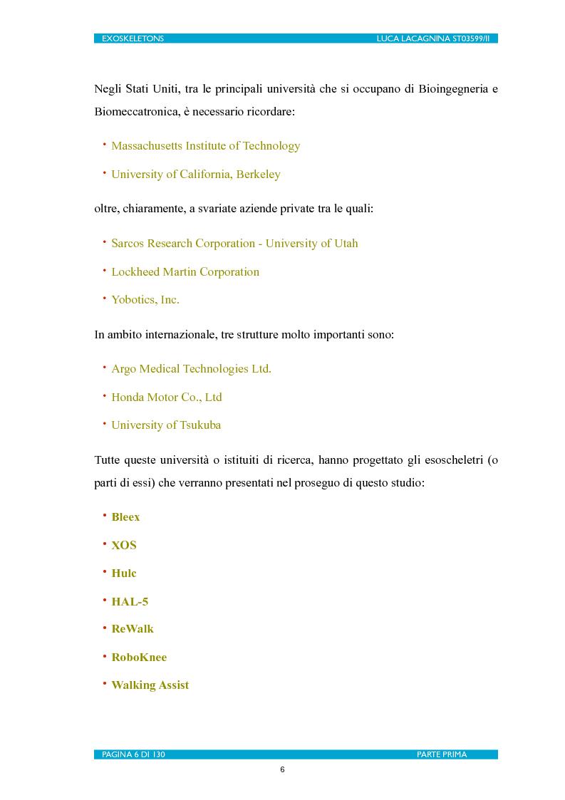 Anteprima della tesi: Exoskeletons. La nuova frontiera della Biomeccatronica per la terapia riabilitativa ed il potenziamento, Pagina 7