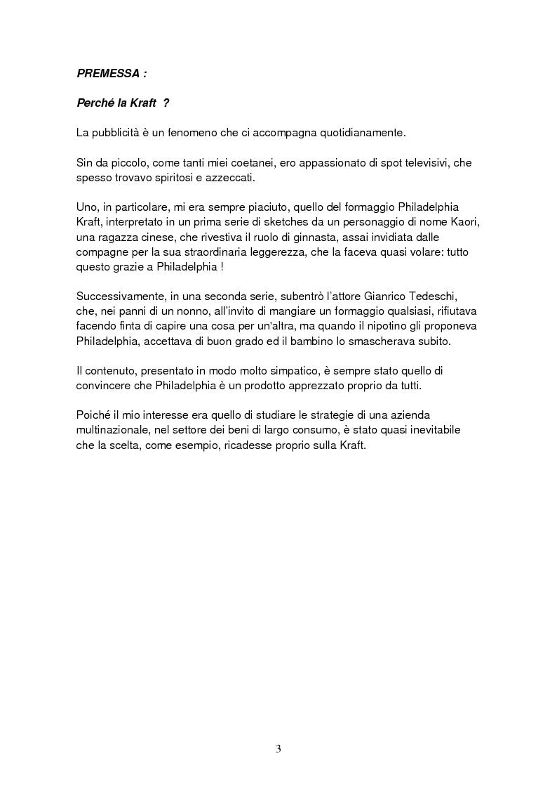 Anteprima della tesi: Le strategie di una multinazionale nel mercato italiano: il caso Kraft , Pagina 2