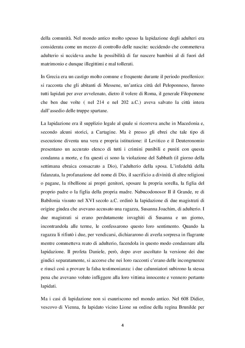Anteprima della tesi: La lapidazione negli stati islamici, tra Corano e costituzioni moderne., Pagina 5