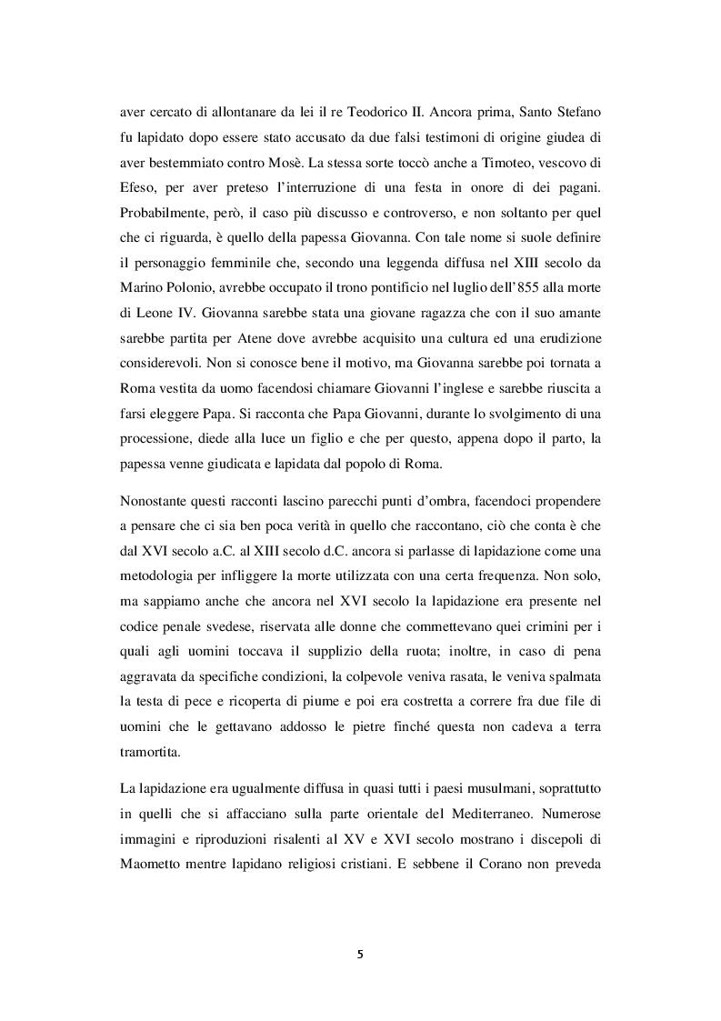 Anteprima della tesi: La lapidazione negli stati islamici, tra Corano e costituzioni moderne., Pagina 6