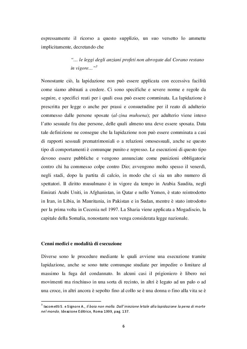Anteprima della tesi: La lapidazione negli stati islamici, tra Corano e costituzioni moderne., Pagina 7