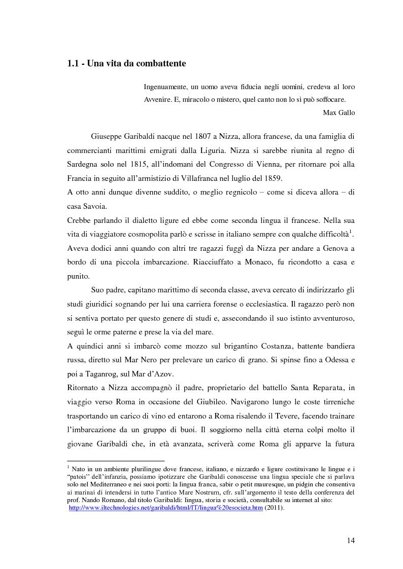 Anteprima della tesi: Memorie garibaldine nel Biellese. Cronache, testimonianze e celebrazioni nel 150° anniversario dell'Unità d'Italia, Pagina 11