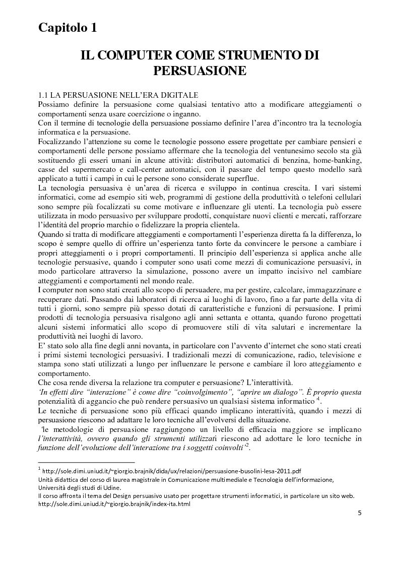 Anteprima della tesi: I Computer come media persuasivi, dal search Engine Marketing al Filtro Bolla, Pagina 4