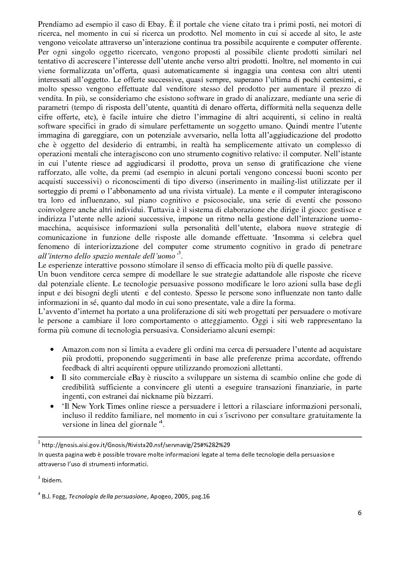 Anteprima della tesi: I Computer come media persuasivi, dal search Engine Marketing al Filtro Bolla, Pagina 5